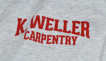 K. Weller Carpentry T-Shirt Design