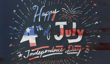 4th of July Hand Drawn Logo